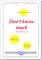 Don't know much (Partitur)