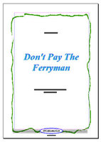 Don't Pay The Ferryman (Partitur)